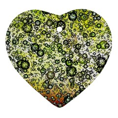Chaos Background Other Abstract And Chaotic Patterns Heart Ornament (Two Sides)
