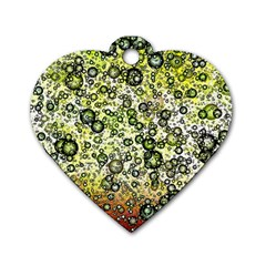 Chaos Background Other Abstract And Chaotic Patterns Dog Tag Heart (one Side)