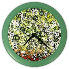 Chaos Background Other Abstract And Chaotic Patterns Color Wall Clocks