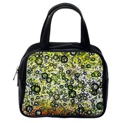 Chaos Background Other Abstract And Chaotic Patterns Classic Handbags (one Side)