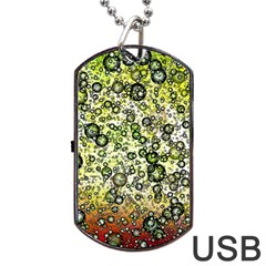 Chaos Background Other Abstract And Chaotic Patterns Dog Tag USB Flash (One Side)