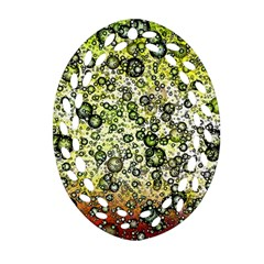 Chaos Background Other Abstract And Chaotic Patterns Ornament (oval Filigree)
