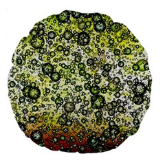 Chaos Background Other Abstract And Chaotic Patterns Large 18  Premium Round Cushions