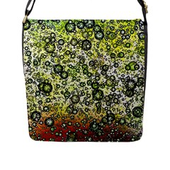 Chaos Background Other Abstract And Chaotic Patterns Flap Messenger Bag (L)