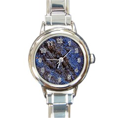 Cracked Mud And Sand Abstract Round Italian Charm Watch