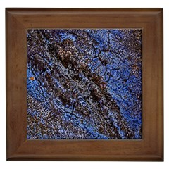 Cracked Mud And Sand Abstract Framed Tiles