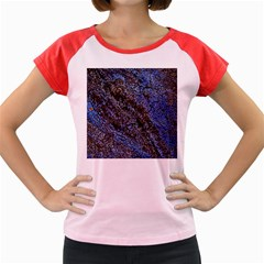 Cracked Mud And Sand Abstract Women s Cap Sleeve T Shirt