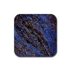 Cracked Mud And Sand Abstract Rubber Coaster (Square)
