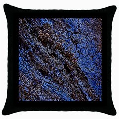 Cracked Mud And Sand Abstract Throw Pillow Case (black)