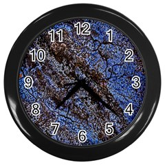 Cracked Mud And Sand Abstract Wall Clocks (Black)