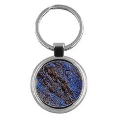 Cracked Mud And Sand Abstract Key Chains (round)