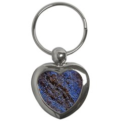Cracked Mud And Sand Abstract Key Chains (Heart)
