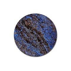Cracked Mud And Sand Abstract Magnet 3  (Round)