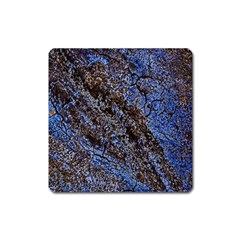 Cracked Mud And Sand Abstract Square Magnet