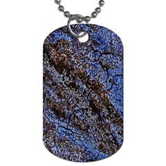 Cracked Mud And Sand Abstract Dog Tag (One Side)