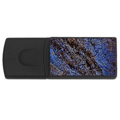 Cracked Mud And Sand Abstract USB Flash Drive Rectangular (1 GB)