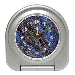 Cracked Mud And Sand Abstract Travel Alarm Clocks