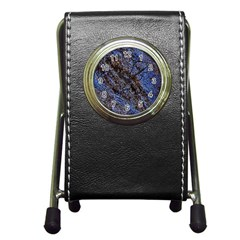 Cracked Mud And Sand Abstract Pen Holder Desk Clocks
