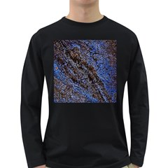 Cracked Mud And Sand Abstract Long Sleeve Dark T Shirts