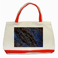 Cracked Mud And Sand Abstract Classic Tote Bag (Red)