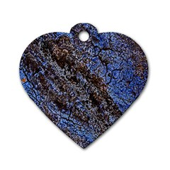 Cracked Mud And Sand Abstract Dog Tag Heart (One Side)