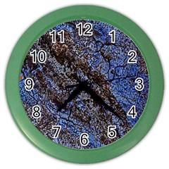 Cracked Mud And Sand Abstract Color Wall Clocks