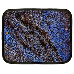 Cracked Mud And Sand Abstract Netbook Case (large)