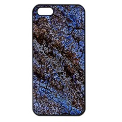 Cracked Mud And Sand Abstract Apple Iphone 5 Seamless Case (black)