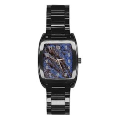 Cracked Mud And Sand Abstract Stainless Steel Barrel Watch