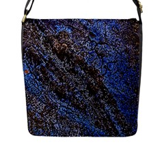 Cracked Mud And Sand Abstract Flap Messenger Bag (l)