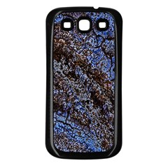 Cracked Mud And Sand Abstract Samsung Galaxy S3 Back Case (black)