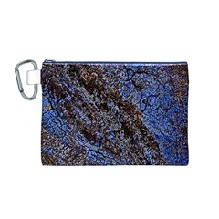 Cracked Mud And Sand Abstract Canvas Cosmetic Bag (M)