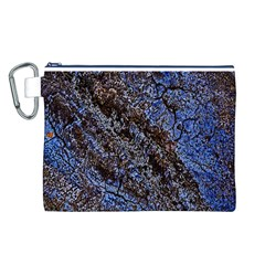 Cracked Mud And Sand Abstract Canvas Cosmetic Bag (L)
