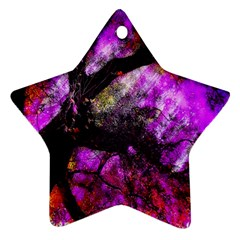 Pink Abstract Tree Ornament (Star)