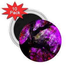 Pink Abstract Tree 2.25  Magnets (10 pack)