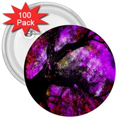 Pink Abstract Tree 3  Buttons (100 Pack)