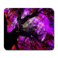 Pink Abstract Tree Large Mousepads