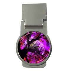 Pink Abstract Tree Money Clips (Round)