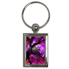 Pink Abstract Tree Key Chains (rectangle)