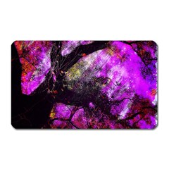 Pink Abstract Tree Magnet (rectangular)