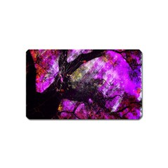 Pink Abstract Tree Magnet (name Card)