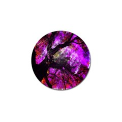 Pink Abstract Tree Golf Ball Marker