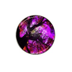 Pink Abstract Tree Hat Clip Ball Marker