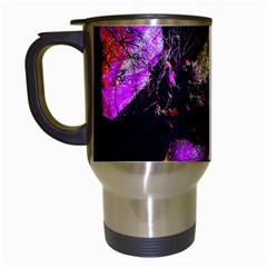 Pink Abstract Tree Travel Mugs (white)