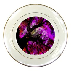 Pink Abstract Tree Porcelain Plates