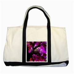 Pink Abstract Tree Two Tone Tote Bag