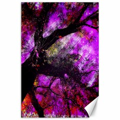 Pink Abstract Tree Canvas 24  X 36