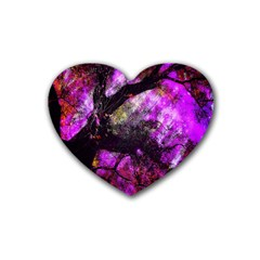 Pink Abstract Tree Heart Coaster (4 pack)