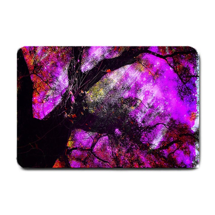Pink Abstract Tree Small Doormat