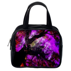 Pink Abstract Tree Classic Handbags (one Side)
